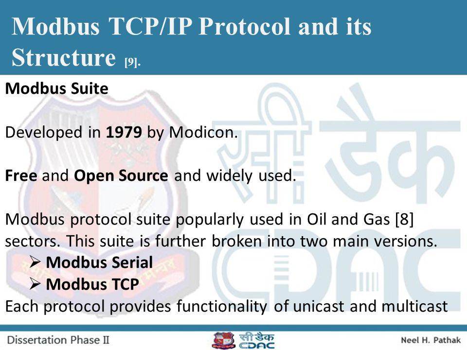 Modbus TCP/IP Protocol and its Structure [9].
